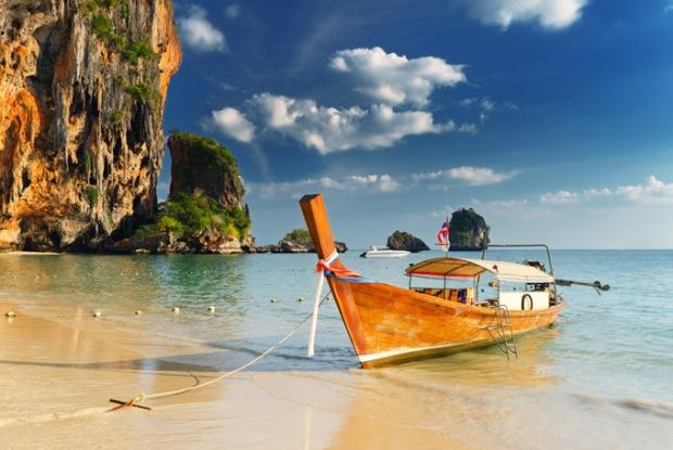 Praia de Railay. Phuket, Tailândia