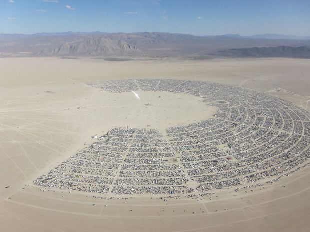 La Playa, a sede do Burning Man. Foto: Kyle Harmon, Wikipedia
