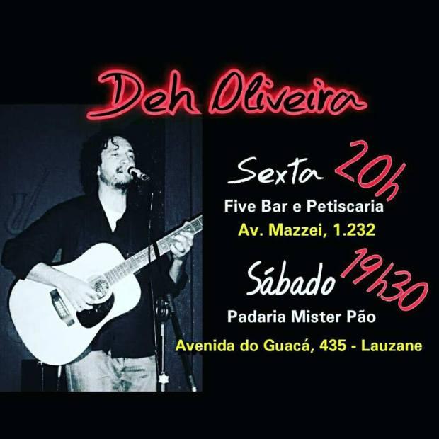 Deh Oliveira tocando no seu FDS.