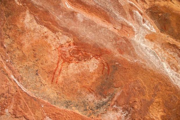 Estas pinturas na rocha têm 5.000 anos de história!