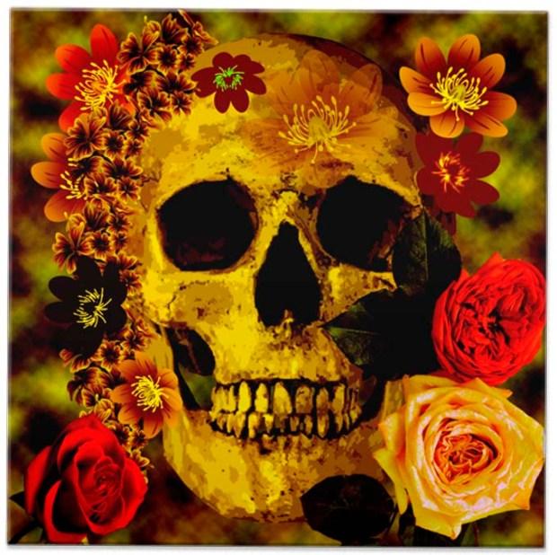 Azulejo de El Dia de Los Muertos. Eternamente em sua parede.