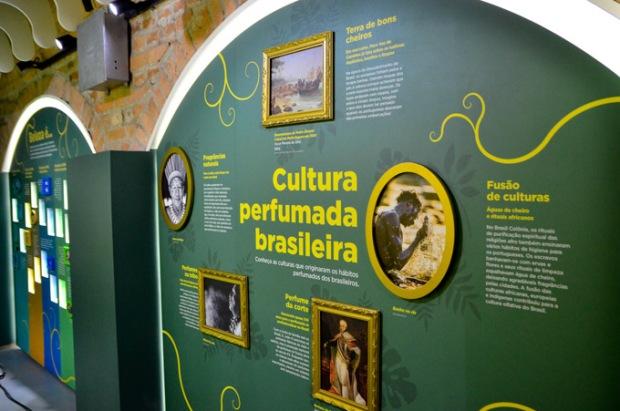 Parte da exposição do Boticário no Catavento Cultural.