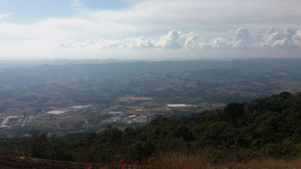 Estamos vendo uma parte de Extrema, em Minas Gerais.