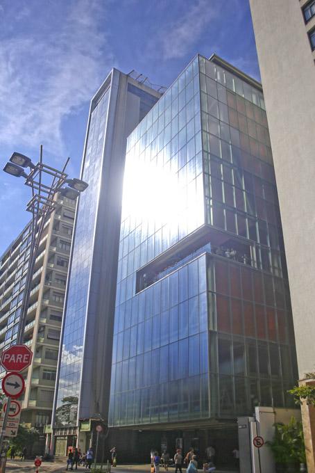 A fachada do IMS, na Avenida Paulista.