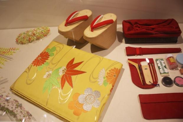 Objetos da cultura japonesa.