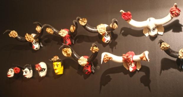 Máscaras de festas tradicionais brasileiras.