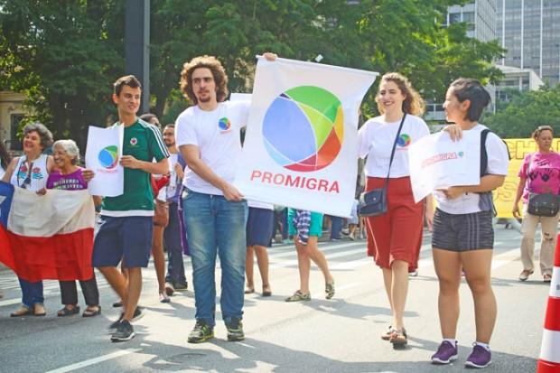 Movimento ProMigra apoiando os imigrantes.