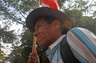 Imigrante cubano comparece à Marcha dos Imigrantes.