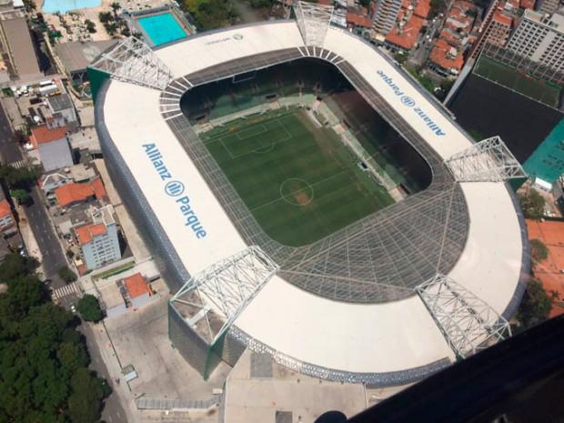 Estádio Allianz Parque - Zona Oeste de São Paulo.