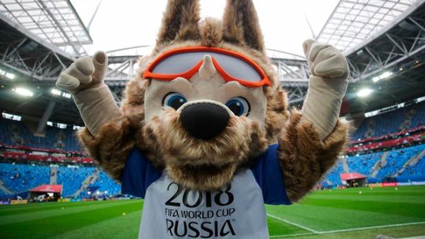 Zabivaka, o lobo siberiano mascote da Copa da Rússia, com nome complicado.