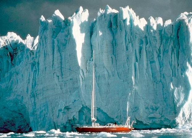 Paredão de gelo da Antártida.