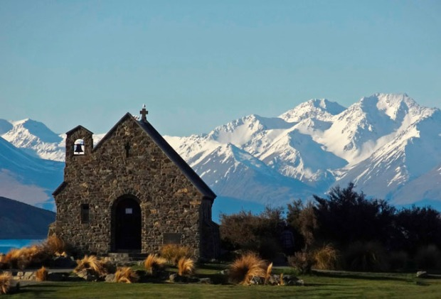 Igreja de Pedra na Nova Zelândia.