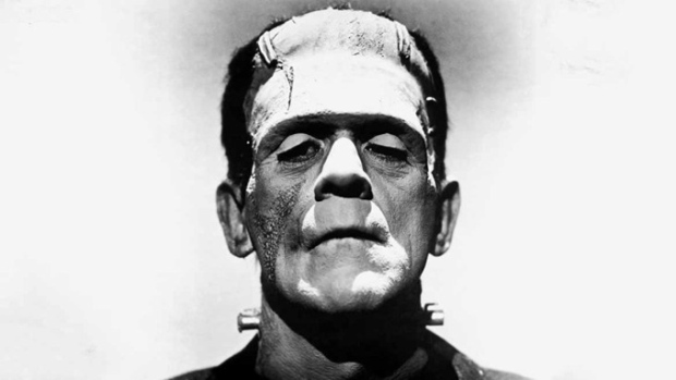 O primeiro Frankenstein do cinema, no rosto do ator Boris Karloff.