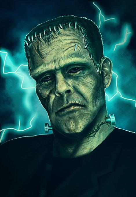 Frankenstein não era verde.