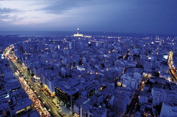 A mundialmente famosa Casablanca, no Marrocos.