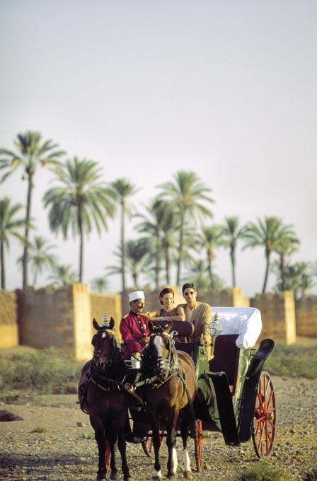 Passeio de charrete em Marrakesh.