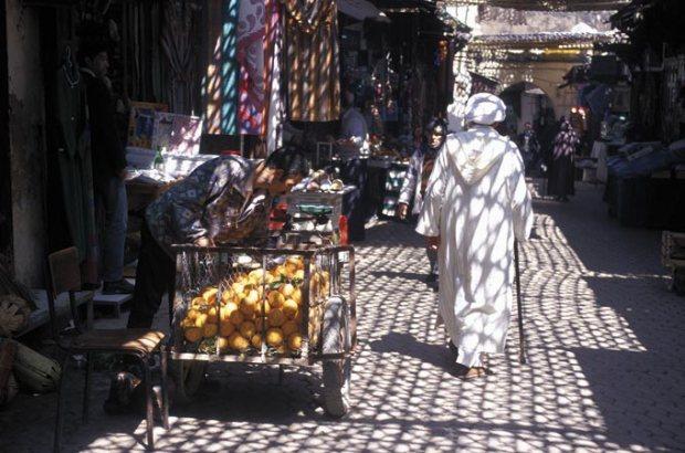 As ruas de Meknés, no Marrocos.