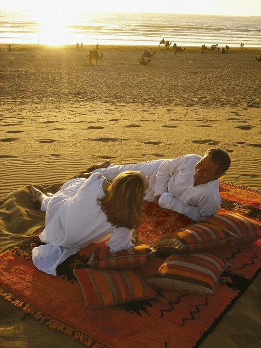 Praias fabulosas e paisagens de um horizonte distante no Marrocos.