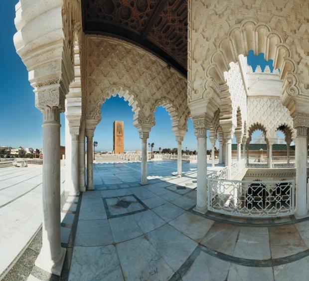 A exótica cultura e arquitetura marroquina em Rabat.