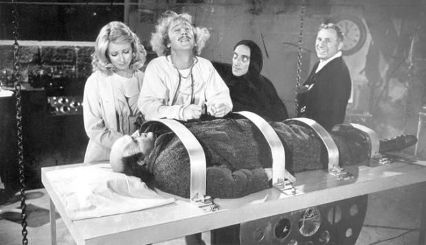 Gene Wilder em Young Frankenstein. Clássica comédia de Mel Brooks.
