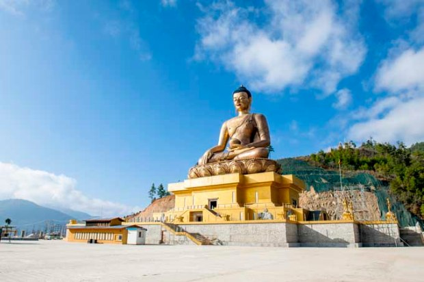 Estátua de Buddha em Timphu, no Butão;