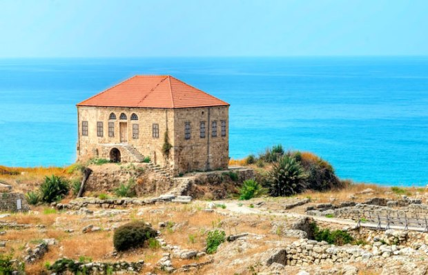 Antigo casarão da cidade de Byblos, no Líbano.