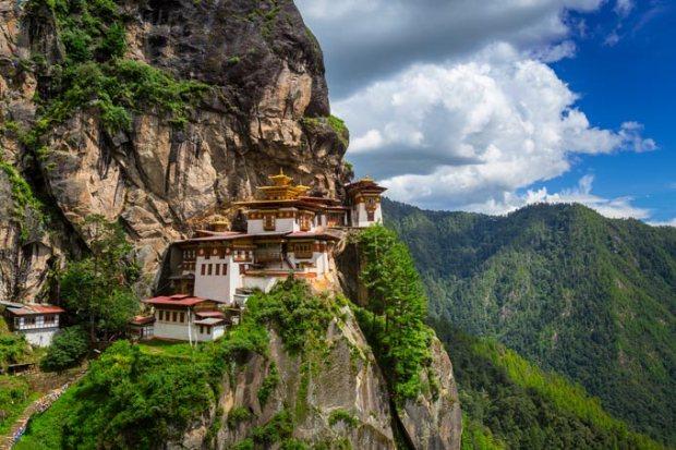 Monastério na região central do Butão.