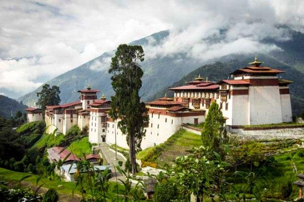 Monastério de Tongsa, no centro do Butão.