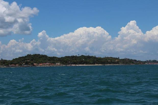 Oceano Atlântico atrás de nós. Foto: Hirlei Gonçalves.