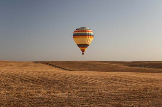 Voo de balão de ar quente na região de Évora