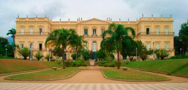 O Museu Nacional, na Quinta da Boa Vista, no Rio de Janeiro. Imagem recente.