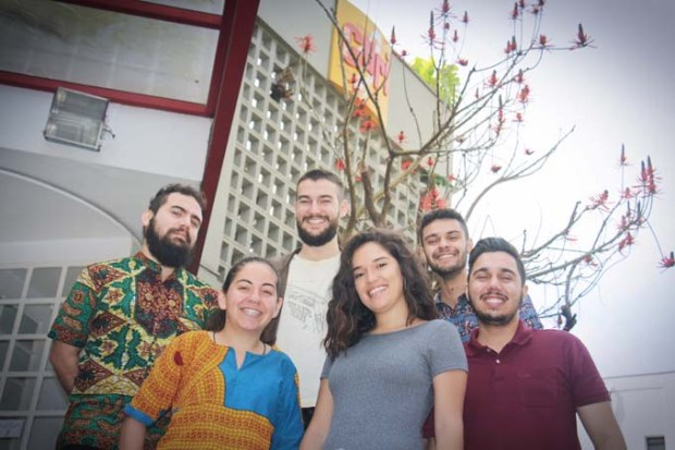enan Dias, Cintia Galan, Gabriel dos Santos, Karoline Ribas, Marcelo Brito e Igor Crecci