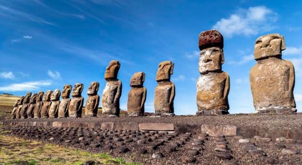 A ilha da Páscoa faz parte do território do Chile.