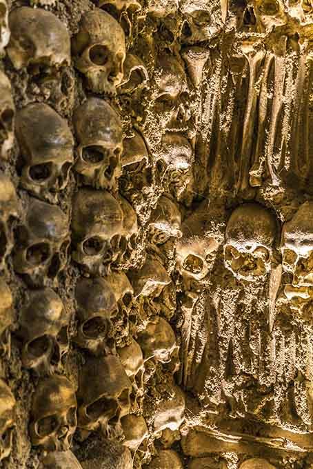 Capela dos Ossos na cidade de Évora, Alentejo, Portugal
